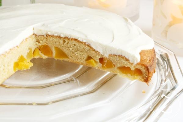 Pfirsichkuchen mit Vanilleschmand by Zuckergewitter