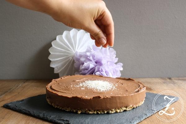 Choco Coco Cheesecake mit Knusperboden | Zuckergewitter.de