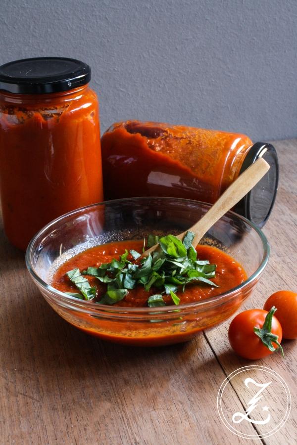selbst gekochte Tomatensauce | Zuckergewitter.de