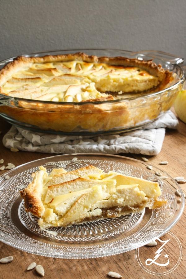Apfel-Blätterteig-Tarte mit nussigem Quarkguss | Zuckergewitter.de