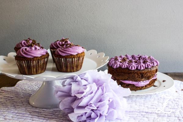 Schokocupcakes mit Heidelbeer-Quark-Frosting | Zuckergewitter.de