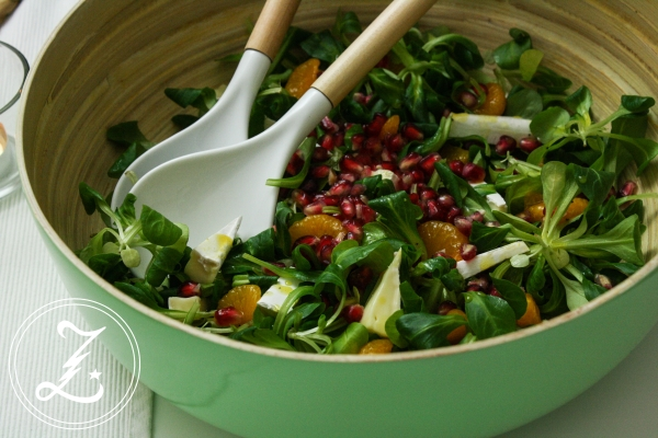 herbstlicher Salat mit Honig-Senf-Dressing | Zuckergewitter.de