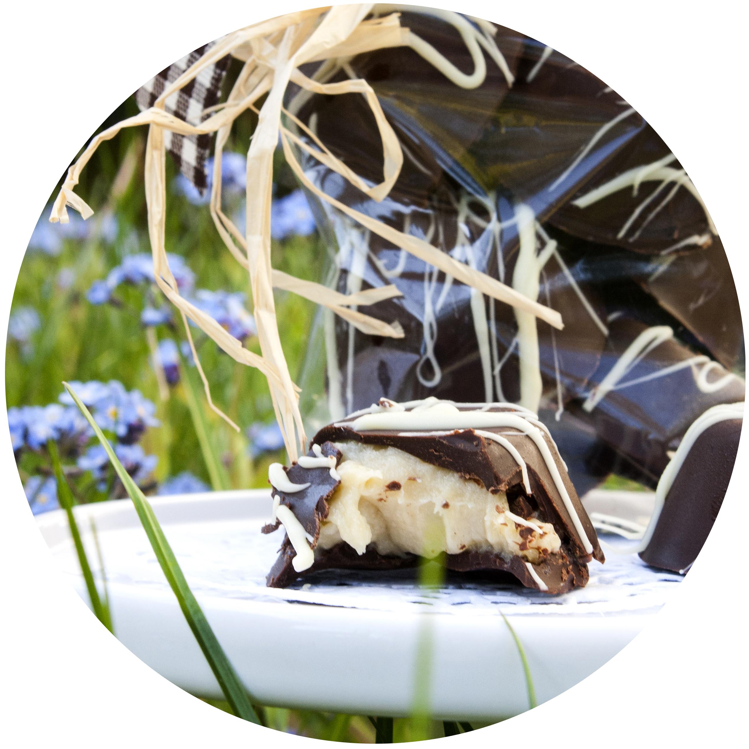 eine schokoladig-süße Verführung – Bananencurd-Pralinen | Zuckergewitter.de