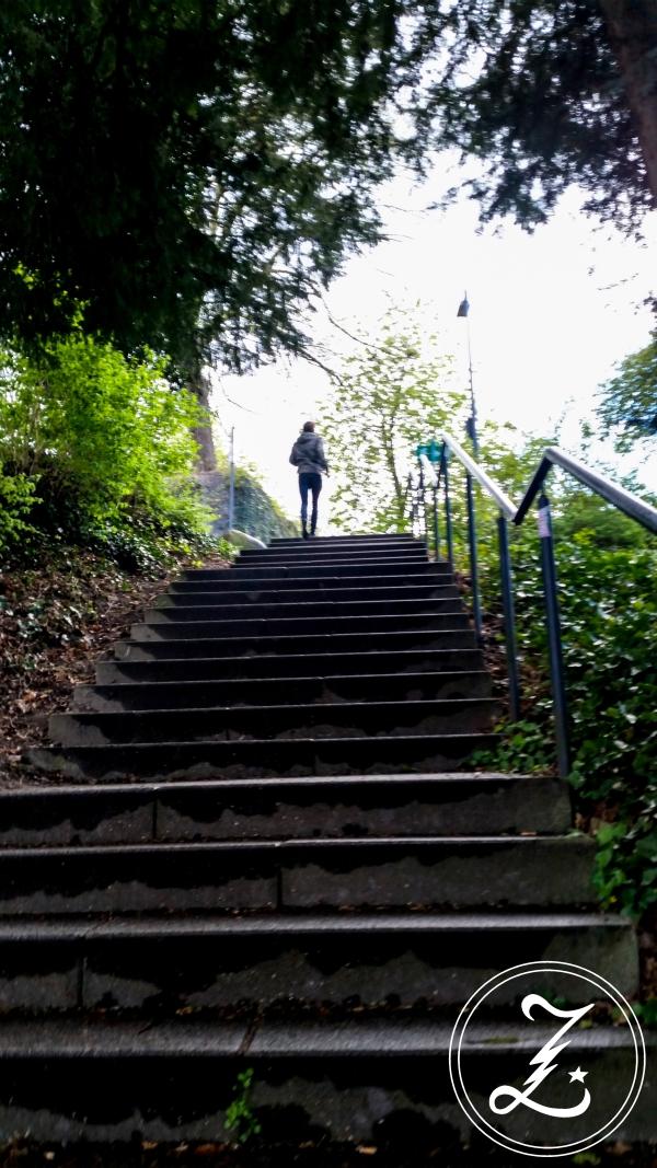 Treppe rauf zur Sparrenburg | Zuckergewitter.de