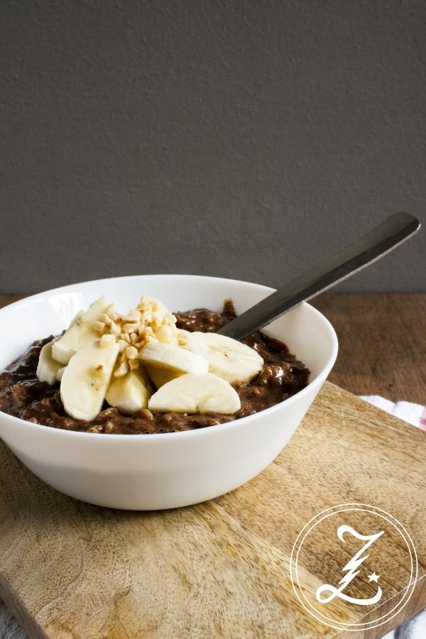 {Start Your Day Right} mit lecker gesundem Schoko-Bananen-Porridge und einem schlanken Grundrezept | Zuckergewitter.de